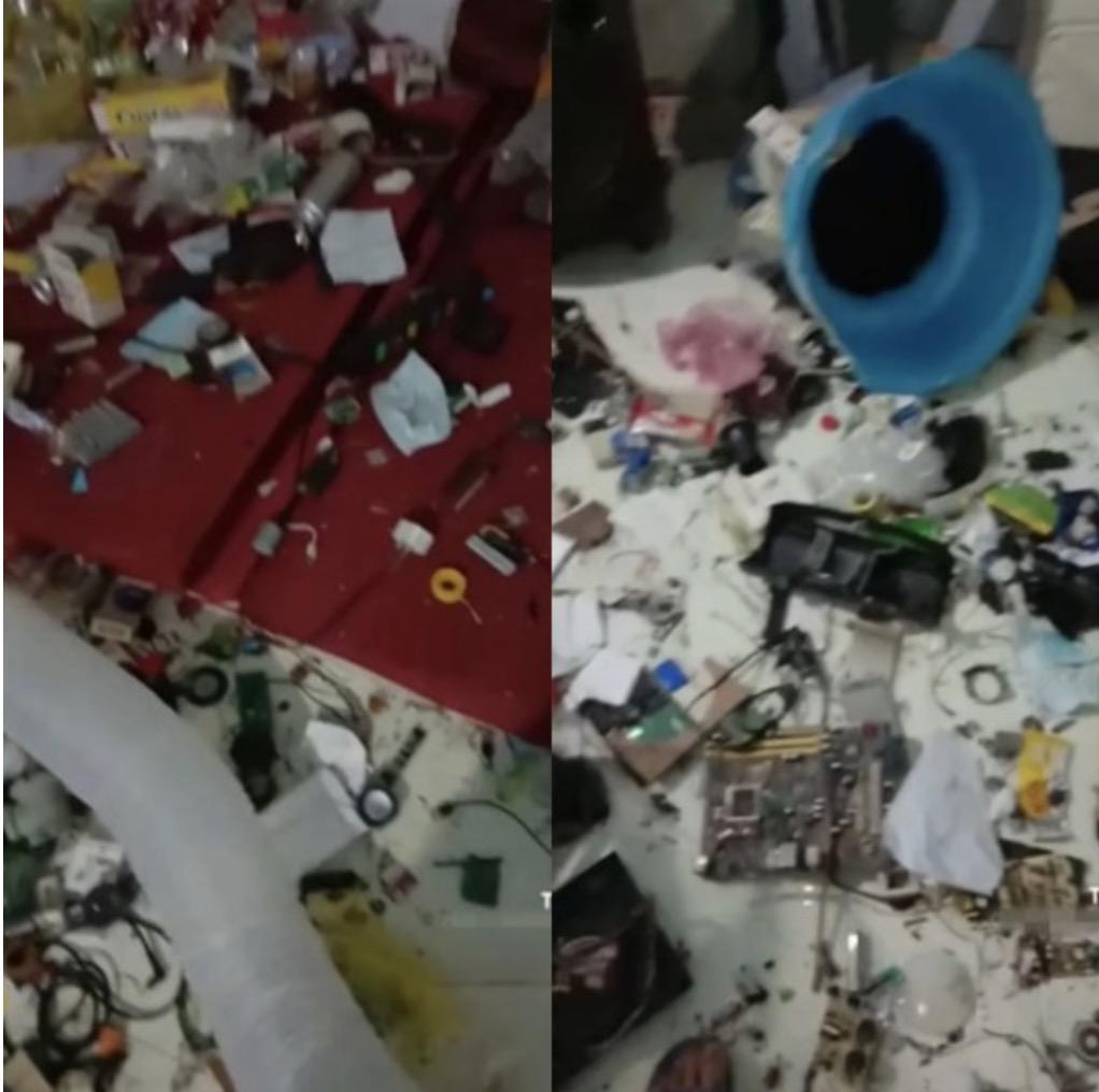 Nam thanh niên bỏ trốn để lại căn phòng trọ ngập rác, chất như núi