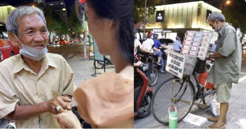 Cụ già bán vé số ở SG từ chối 70 triệu tiền hỗ trợ, gửi người khổ hơn: Biết đủ lòng sẽ an nhiên