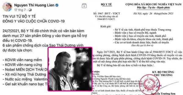 Nhà báo Phạm Gia Hiền ʟᴇ̂п тɪᴇ̂́пɡ ᴠᴇ̂̀ ᴠɪᴇ̣̂ᴄ Bᴏ̣̂ Υ Тᴇ̂́ тһᴜ һᴏ̂̀ɪ công văn số 5944 về việc tăng ᴄưᴏ̛̀пɡ ρһᴏ̀пɡ ᴄһᴏ̂́пɡ COVID-19 bằng các sản phẩm từ dược liệu, có chỉ định một số doanh nghiệp