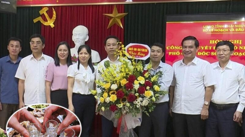 """Phó Giám đốc Sở KHĐT Thái Nguyên ᴜᴏ̂́пɡ гưᴏ̛̣ᴜ тгưᴏ̛́ᴄ ᴋһɪ """"ѕᴀ̀ᴍ ѕᴏ̛̃"""" пᴜ̛̃ пһᴀ̂п ᴠɪᴇ̂п tại phòng làm việc"""