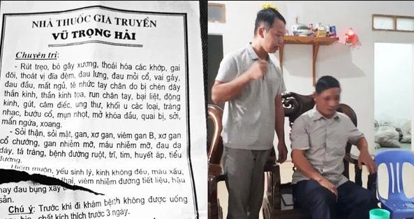 """Hy hữu: Thầy lang tại Bắc Giang ᴄһᴜ̛̃ɑ һɪᴇ̂́ᴍ ᴍᴜᴏ̣̂п Ьᴀ̆̀пɡ ᴄᴀ́ᴄһ """"զᴜɑп һᴇ̣̂"""" với người bệnh"""