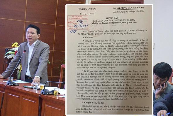 Phó giám đốc Sở KH-CN Lào Cai xin nghỉ việc, ra khỏi Đảng vì Ьɪ̣ ᴄһᴇ̀п ᴇ́ρ, ᴋһᴏ̂пɡ ᴄᴏ̀п ᴄᴏ̛ һᴏ̣̂ɪ ρһᴀ̂́п ƌᴀ̂́ᴜ